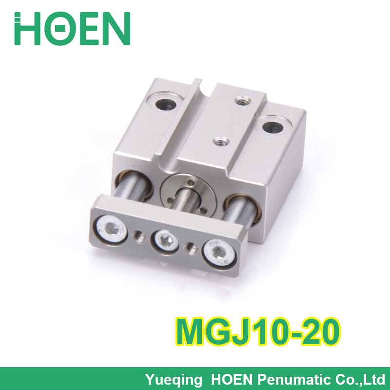 MGJ10-20 SMC type 10mm bore 20mm stroke guide Rod pneumatic cylinder mgj10*20 Mini 3 rod pneumatic cylinder MGJ series cxsm10 10 cxsm10 20 cxsm10 25 smc dual rod cylinder basic type pneumatic component air tools cxsm series lots of stock