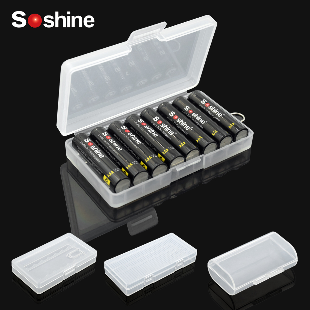 Hard Plastic Case Holder Storage Box Cover for 2x 4x 8x AA AAA Battery Box Container Bag Case Organizer Box Case with Clips