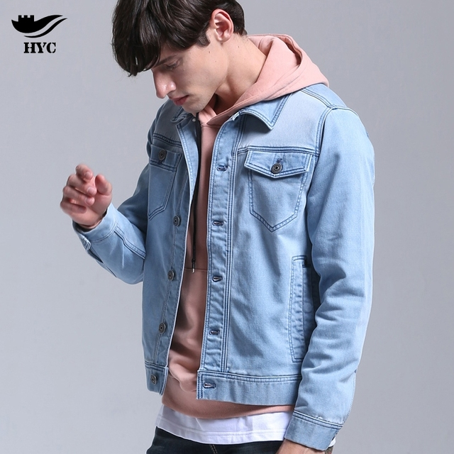 Hai Yu Cheng New Spring Casual Fashion Brand Quality Denim Jacket