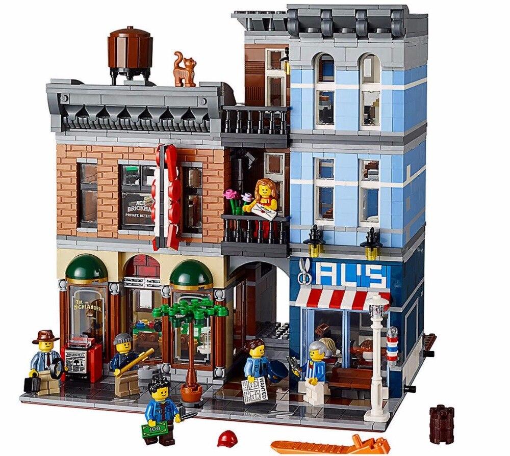 En Stock 15011 détective bureau Street View créateur série blocs de construction 2262 pièces Compatible avec Legoings 10246