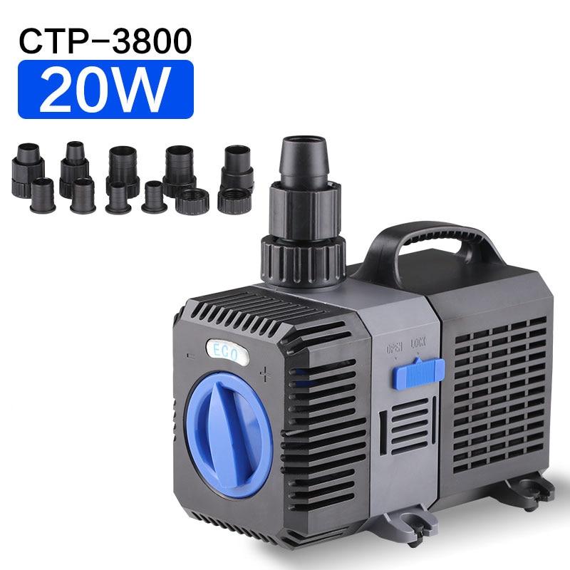 3600L/h Submersible réglable fréquence en ligne pompe à eau pour Aquarium réservoir de poissons jardin étang eau caractéristique Koi poisson filtre pompe