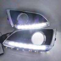 Car Styling 1 Pair High Quality Super White Light 12V CAR DRL Daytime Running Led Light