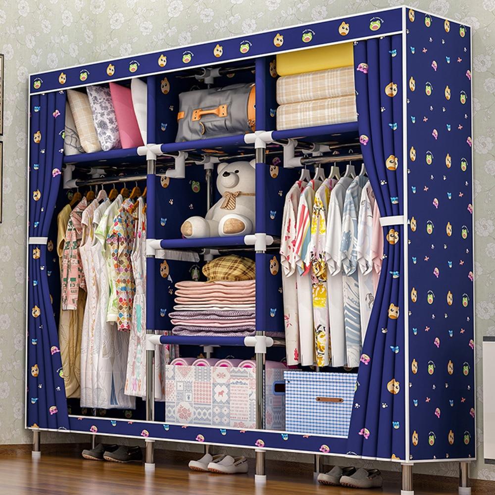 2018 storage furniture When the quarter wardrobe DIY Non woven fold Portable Storage Cabinet bedroom furniture wardrobe bedroom in Wardrobes from Furniture
