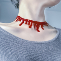 Halloween Horror Red Choker Necklace Blood Drip Frankenstein Punk Rock Deathrock Fancy Dress Choker Necklace