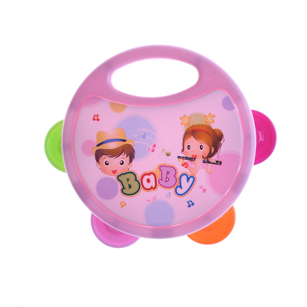 Baby Rattles & Mobiles 1pcs Cute Baby Kids Musical Tambourine Beat Instrument Educational Handbell Clap Drum Toys Baby Gift