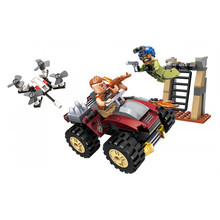 Enlighten Building Blocks Military Peacekeeping Force Thunder Mission Sting's Assaulted Bricks Educational Toys for Children bela 8031 military thunder air force chinook creative technic building block set bricks kits toys children gifts