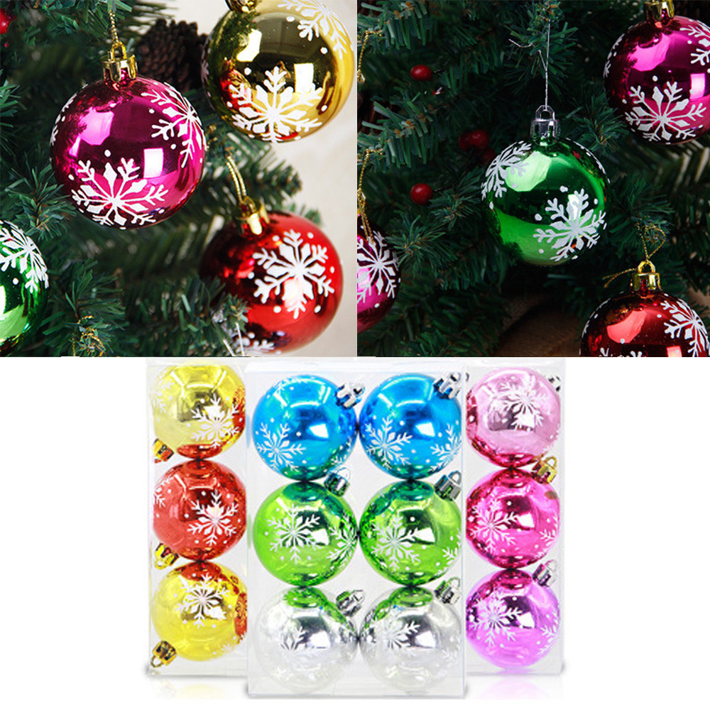 15CM ornamentales árbol de Navidad en Plata-Paquete de 2 Chistmas Decoración