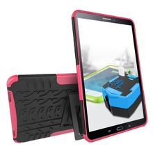 Hybrid Armor Tablet Case for Samsung Galaxy Tab A 10.1 2016 SM-T580 Kickstand Hard Back Cover with Flexible TPU Plastic Silicone