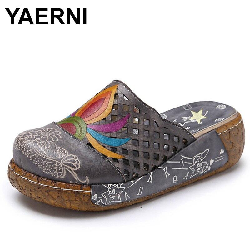 Flop Femmes Ethniques D'été Plate Chaussures E581 Yaerni gris Sandales Occasionnels Talon Sapphire forme Plage Zapatillas Floral Flip Épais Pantoufles ptqSw