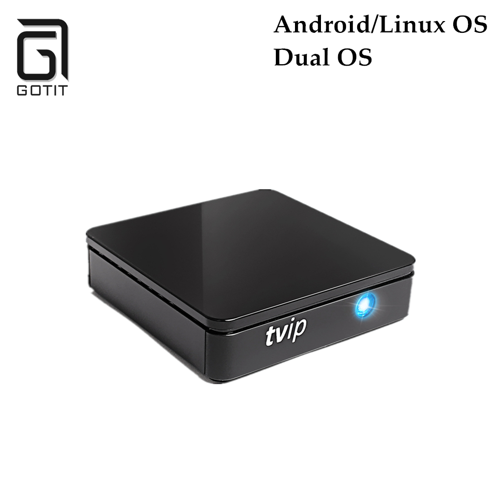 TVIP 410 412 Amlogic Quad Core 4GB Flash Android/Linux Dual OS Smart TV Box Support H.265 Arabic French Europe IPTV 5pcs android tv box tvip 410 412 box amlogic quad core 4gb android linux dual os smart tv box support h 265 airplay dlna 250 254