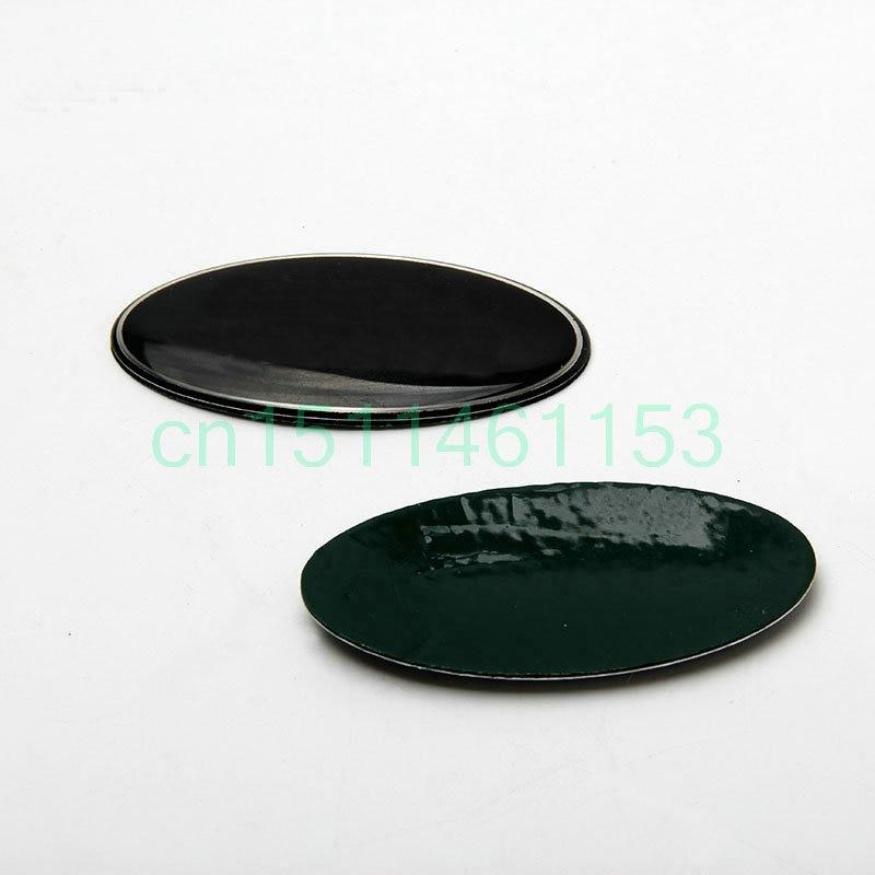 Front Grille Emblem Oval Logo Badges sticker For Land Rover sticker on the car Green Black 1pc 86*43mm