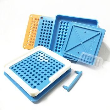 ABS Blue Capsule Filling Plate 100 Hole Filling Machine Manual Capsule #1 Medicine Capsule Production DIY Herb 1