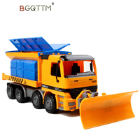 1:22 Inertia Large Plastic Engineering Car Tractor Toy Snowplows Truck Model Vehicle Toys Model Classic Toy For Children Gifts