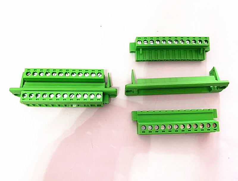 5sets pitch 5 08mm 20p 21p 22p 23p 24p green through the wall pluggable male and