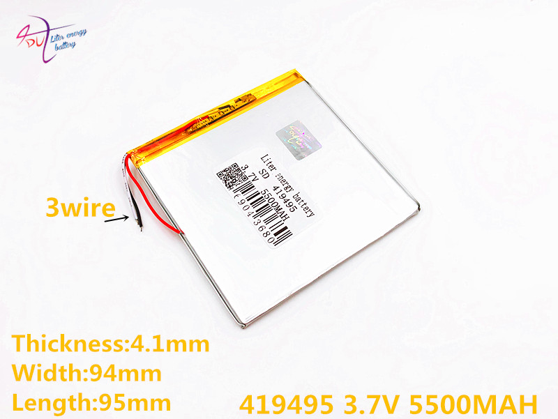 3 line Liter energy battery The tablet Rechargeable batteries 419495 419595 409595 3.7V 5500MAH lithium battery P85 Tablet PC все цены
