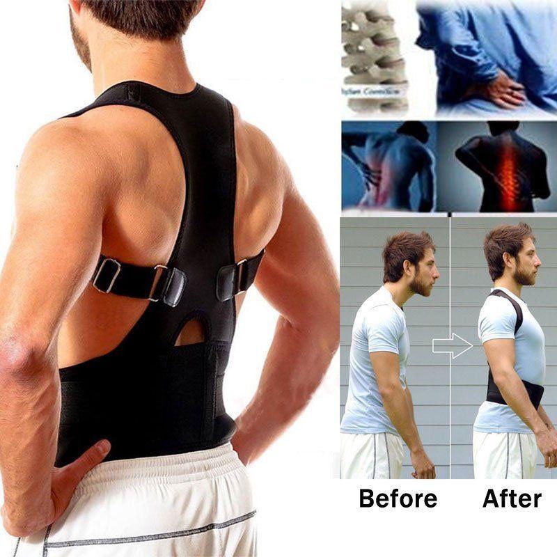 HEALTH CARE AFT-B002 Lumbar Support Belt Strap Posture Corset for Men Mens Back Posture Corrector Back Braces Belts