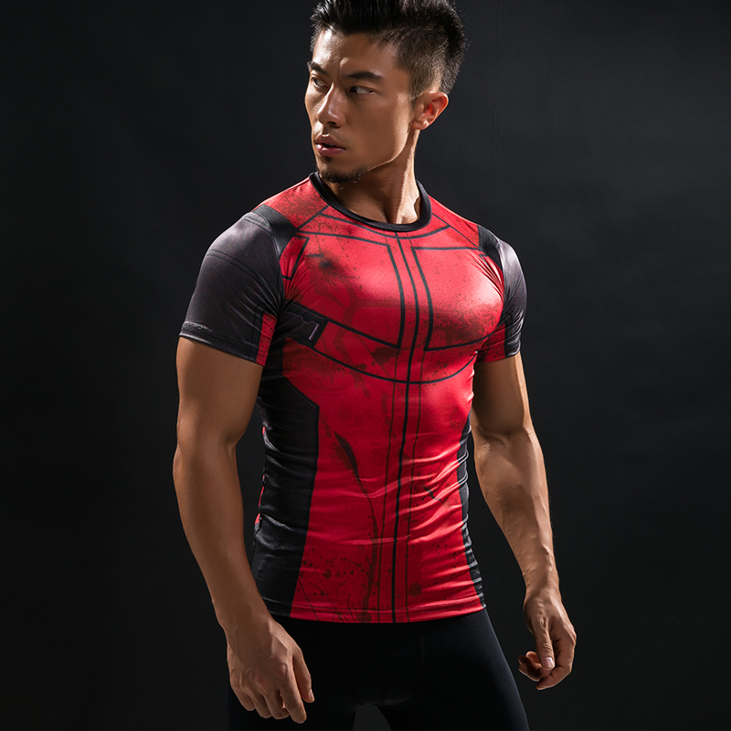 Fun deadpool shirt tee 3d printed t shirts men fitness g Fitness shirts for men