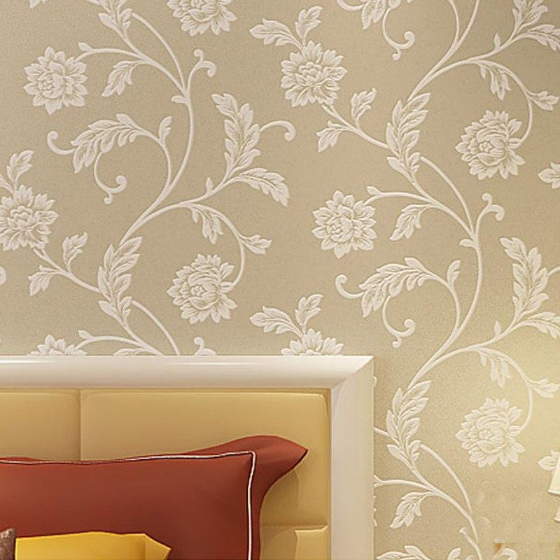 ФОТО Euroart Papel De Parede Flower Sprinkle Silver 3D Mural Wallpapaer Roll Modern Embossed Glitter Pastrol Wall Paper Home Decor