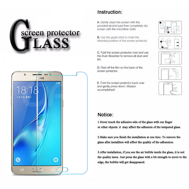 Image 5 - Premium Tempered Glass on the For Samsung Galaxy S7 J3 J5 J7 2015 2016 2017 J3 J7 2018 Screen Protector HD Protective Film Case-in Phone Screen Protectors from Cellphones & Telecommunications