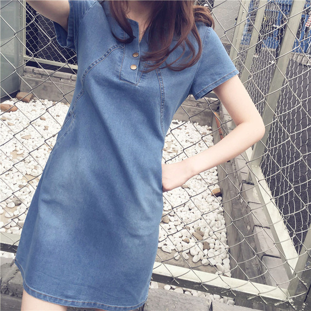 FREE OSTRICH Plus Size Casual Denim Sexy Dress Summer Fashion Comfortable Dresses Oversize Apparel