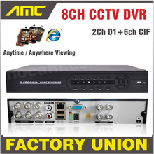 New CCTV DVR 8 Channel H 264 8CH 2CH D1 6CH CIF Recording Support Network Mobile Phone CCTV DVR Recorder 8CH Security DVR