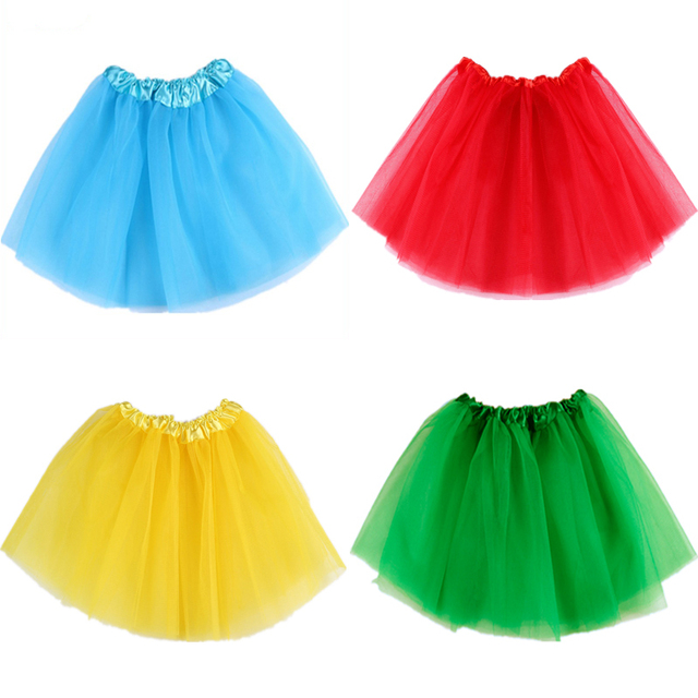 Cute Baby Girls Skirt Translucent 3-Layer Net Yarn Children Skirt 16 Candy Colors Girl's Ball Gown Tutu Skirts Children Clothing