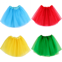 Cute Baby Girls Skirt Translucent 3 Layer Net Yarn Children Skirt 16 Candy Colors Girl's Ball Gown Tutu Skirts Children Clothing