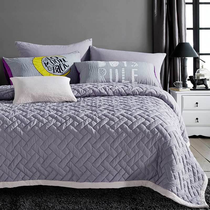 Bed Sets Twillfullqueenking Double Bedlinen Solid Color Duvet - Quilted-blankets-for-the-bed