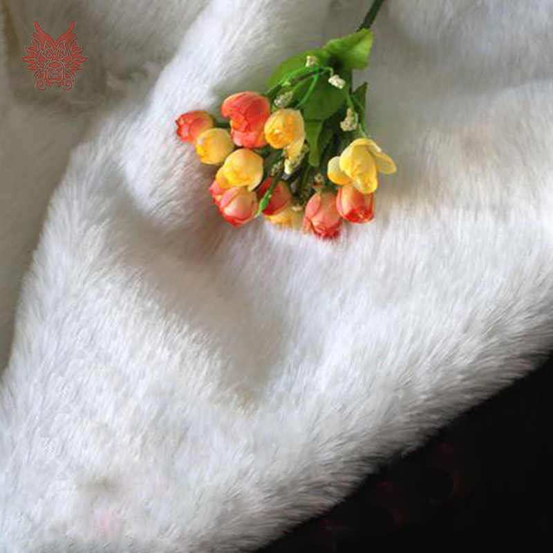 Высокий класс белый/красный/черный сплошной см 2 см Искусственный мех Ткань для зимнее пальто, жилет, меховой воротник, cape150 * см 50 см (59 ''* 19,6'') Бесплатная доставка SP2308