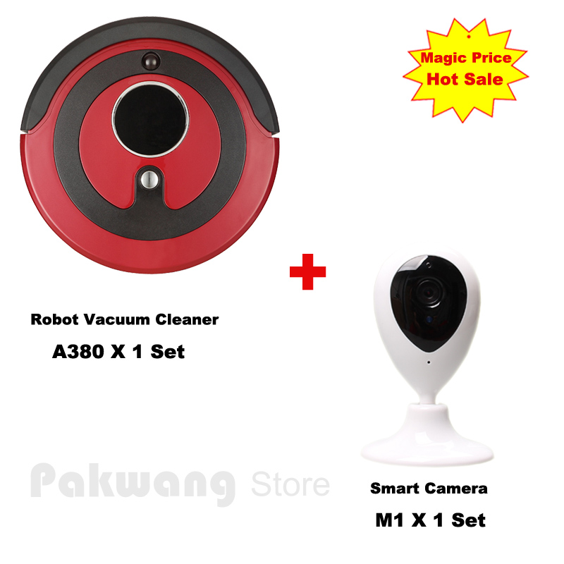 PAKWANG Smart Camera Pet/Baby Monitor and A380 Robot vacuum cleaner for home with 800ML dustbin  Automatic Aspirador
