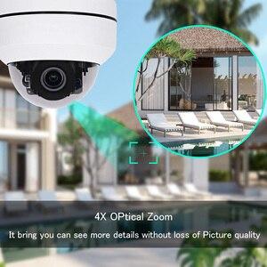 Image 5 - 1080P kamera PTZ IP na zewnątrz wodoodporny bezpieczeństwo w domu kamera Mini prędkość kamera kopułkowa IP HD Onvif 4X Zoom noktowizor IP kamera na podczerwień