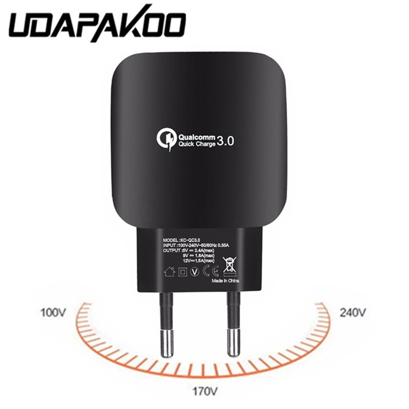 For Samsung xiaomi ASUS lg SONY HTC ZTE nubia for iphone Quick Charge QC 3.0 2.0 USB Fast Charger 5V 2.4A EU Wall plug Adapter