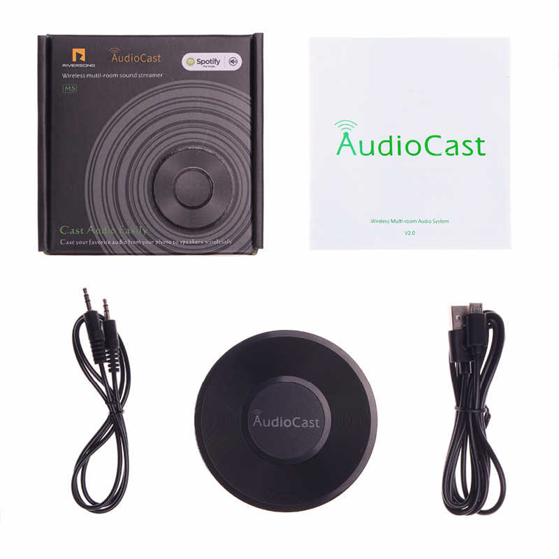 RIVERSONG Wireless Wifi Audio Receiver Audiocast M5 DLNA Airplay Support  Spotify Wireless Sound Streamer