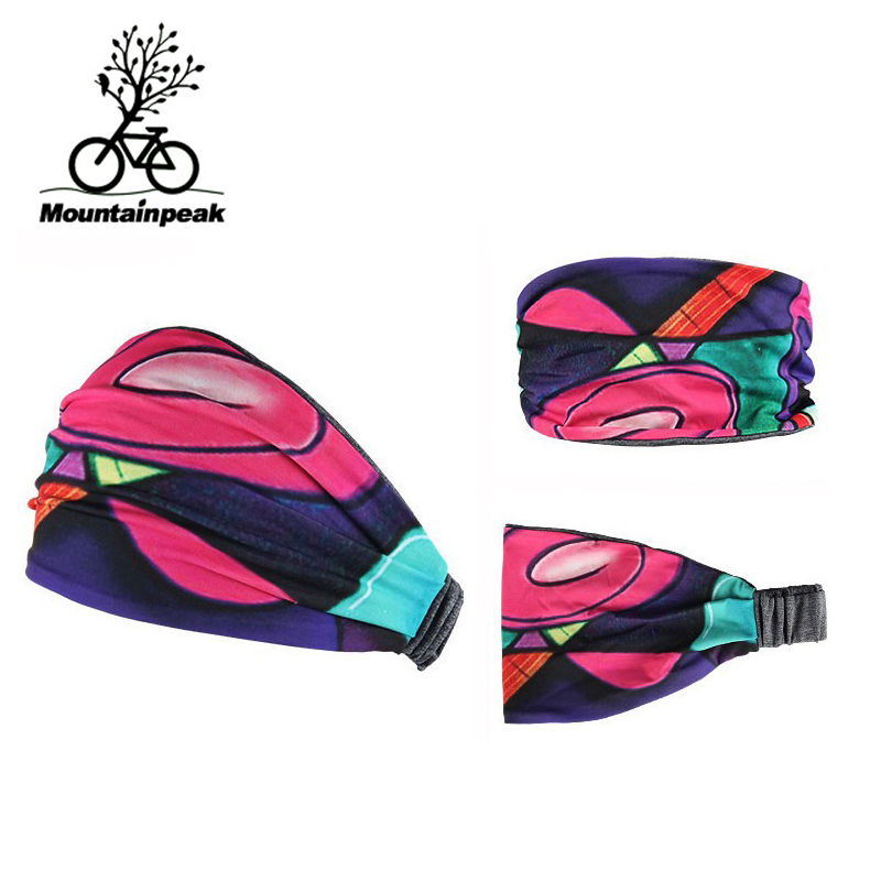 2018 Men Women Cycling Headwear 11 Patterns Riding Sweatband Yoga Fitness Running Headband High Elastic Gym Hairband