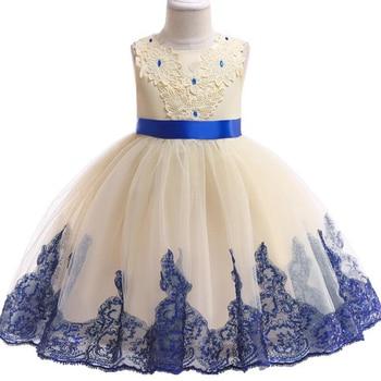 cce3ea172 Poco chica ceremonias vestido de los niños del Bebé Ropa Tutu vestidos de  niños para Niñas Ropa de fiesta de boda Gownbaby vestido de niña
