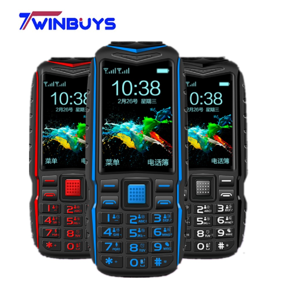 Cheap Mini Power Bank Phone KUH T3 Big voice Outdoor Shockproof Mobile Phone 2.4Inch Dual Flashlight Quick Dial Rugged Cellphone(Hong Kong,China)