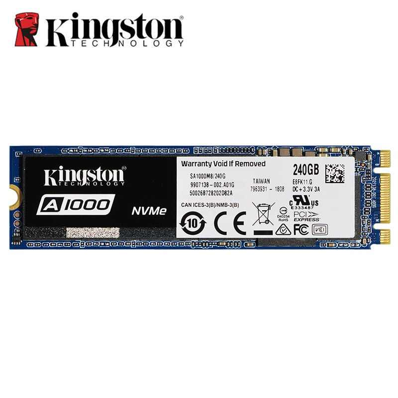 Kingston A1000 NVMe M.2 2280 SATA SSD 120GB 240GB 480GB 960GB Internal Solid State Drive Hard Disk SFF For PC Notebook Ultrabook