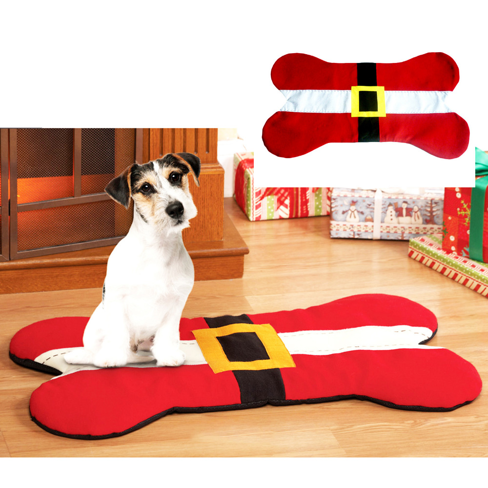 Dog Bone Pet Rug: Aliexpress.com : Buy Bone Shape Pet Christmas Seat Mat