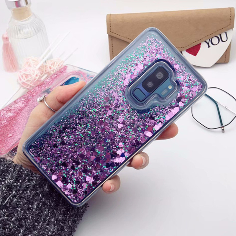 Half-wrapped Case Latest Collection Of Flowing Quicksand Love Heart Clear Acrylic Back Case For Samsung Galaxy S10 Lite A6s J4 Core J6 A8 Plus 2018 Liquid Sand Cover Buy One Give One Phone Bags & Cases