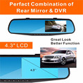 CARPRIE 4.3'' car video recorder dual camera full hd dash cam rearview mirror camera Waterproof DVR Rear View Camera G-Sensor