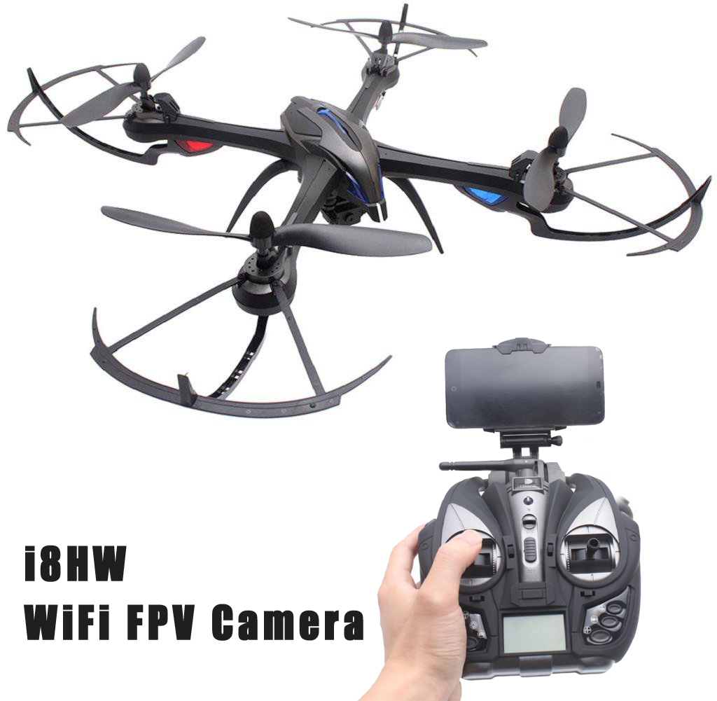 EBOYU(TM) Yizhan i8HW 2.4GHz 4CH 6 Axis Gyro RC Quadcopter Air Press Altitude Hold Compass with FPV 0.3MP WiFi Camera