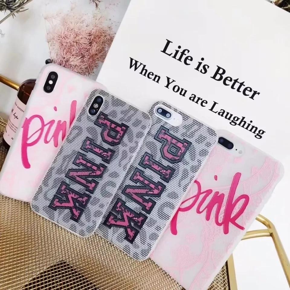 Yubocent Роскошные Виктория кружевной розовый мягкий чехол для iphone X 7 8 плюс 6 S плю ...