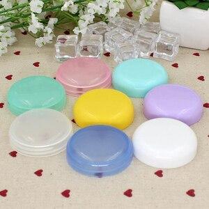 Image 4 - 5Pcs/Lot Mini Empty Jar Pots Cosmetic Makeup Inner Lid Face Cream Lip Balm Container My Refillable Bottles Wholesale