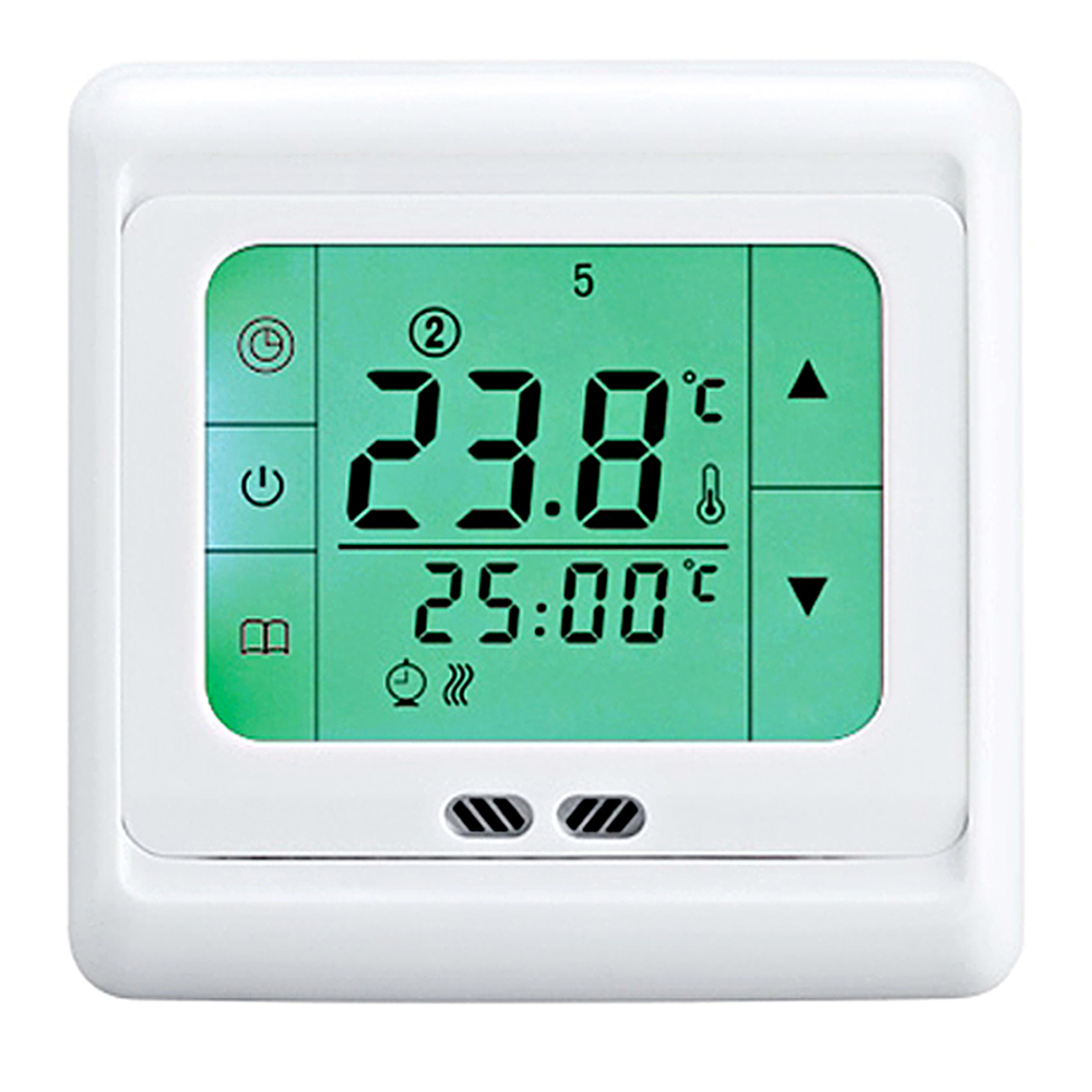 floureon 16a touch screen thermostat regulator weekly programmable room floor heating thermostat home temperature controller [ 1000 x 1000 Pixel ]