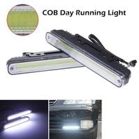 2pcs 12W 6000K 7500K COB LED Lights Waterproof DRL Daytime Running Auto Car Lamp For Universal
