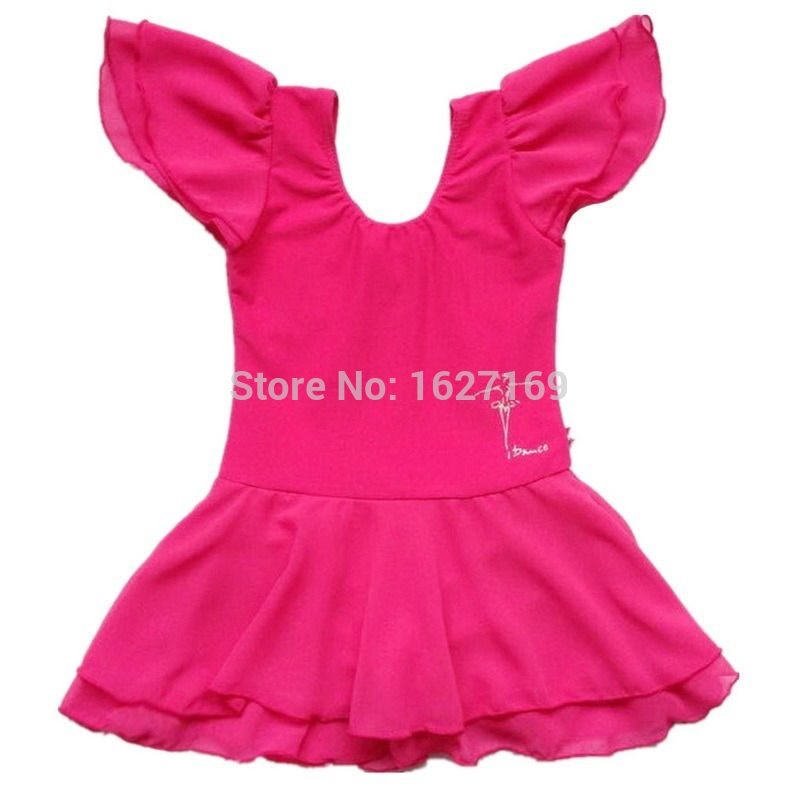Children Kids Girls Hot Pink Leotard Ballet Tutu Dress -6237