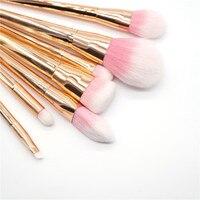 Profession Brush Gold Pink Sliver 7 Pcs Makeup Brushes Set Synthetic Hair Make Up Brushes Tools
