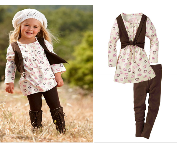 Fall 2012 French Design Children Girl's 2 PC Sets Clothing ...