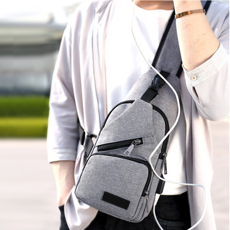 Fashion Men Shoulder Bag Usb Charge Anti Theft Security Waterproof Travel Man Crossbody Messenger Casual Bag Lby2017 #4