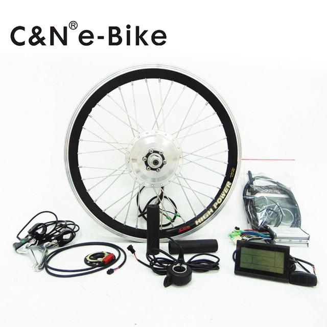 free shipping! LCD display 350w electric bike conversion kit hub motor kit for ebikes